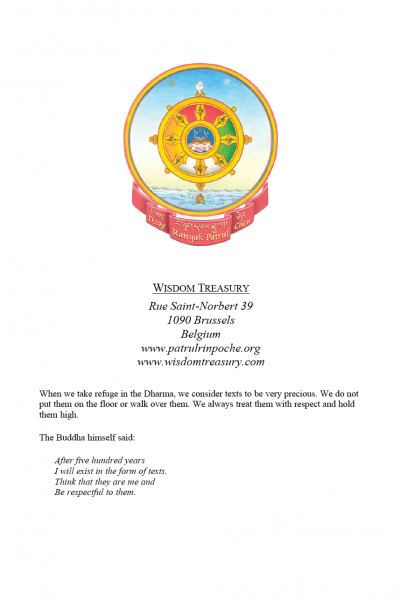 Advice to Kunzang Chögyal