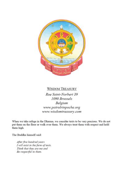Conseil à Kunzang Chögyal (Edition anglaise)